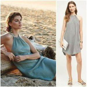 ANTHROPOLOGIE Sz XS Cloth & Stone Chambray Dress